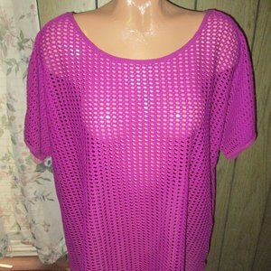 AVENUE KNIT TOP COVERUP SIZE 14/16